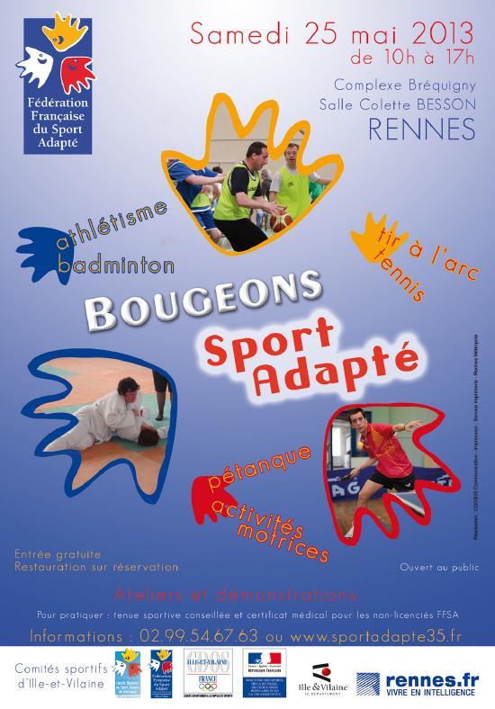 Affiche Bougeons Sport Adapté 25 mai 2013