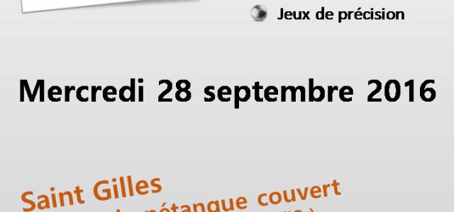 La saison redémarre ! Le C.D.S.A. 35 en partenariat avec l'ASCAR organise une rencontre Pétanque Sport Adapté (Loisirs et compétition), le mercredi 28/09/2016 à Saint Gilles. Cliquez ici pour visualiser […]
