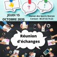 Quand ? Le Jeudi 15 Octobre 2020 Quelle heure? 10h à 12h Où? Maison des Sports à Rennes – 13 B Avenue de Cucillé Contact et Inscriptions : Maëlle MONNIER […]