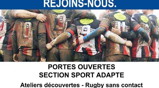 Le mercredi 16 Juin, le club de rugby de Redon organise des portes ouvertes pour la section Sport Adapté, en proposant des ateliers découvertes sans contact.