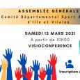 Le samedi 13 Mars se tiendra une assemblée générale, à partir de 10h. Le contexte ne permettant pas le présentiel, elle se fera en visioconférence.
